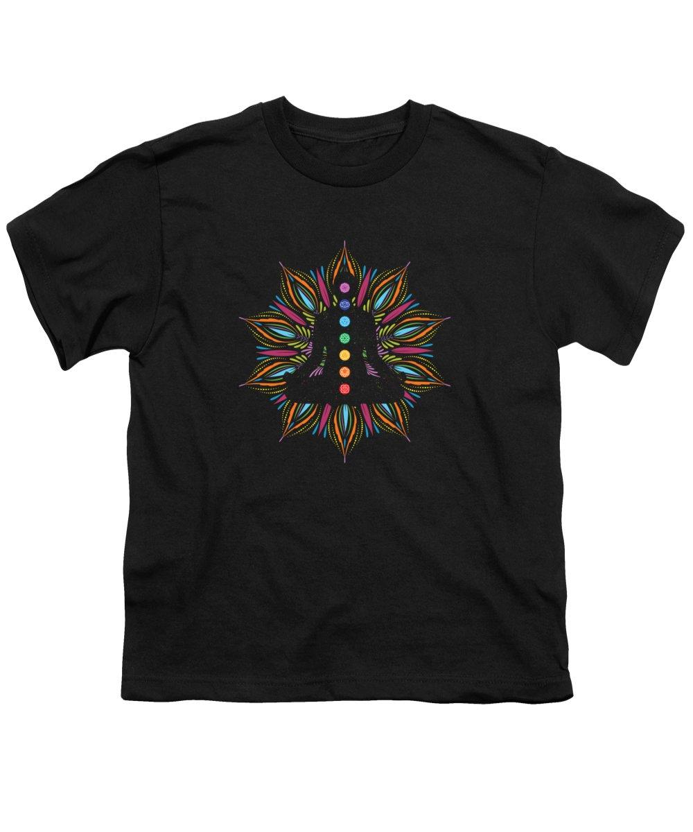 Seven Chakras Spiritual Meditation Yoga Mens T-Shirt
