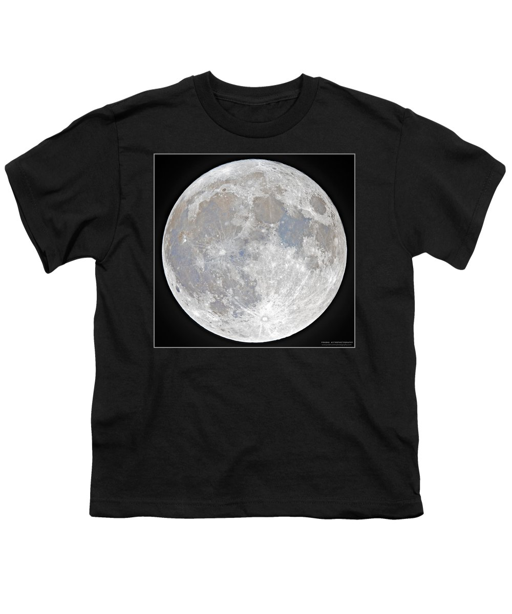 Fullmoon Youth T-Shirt featuring the photograph October 2020 Halloween Full/Blue Moon by Prabhu Astrophotography