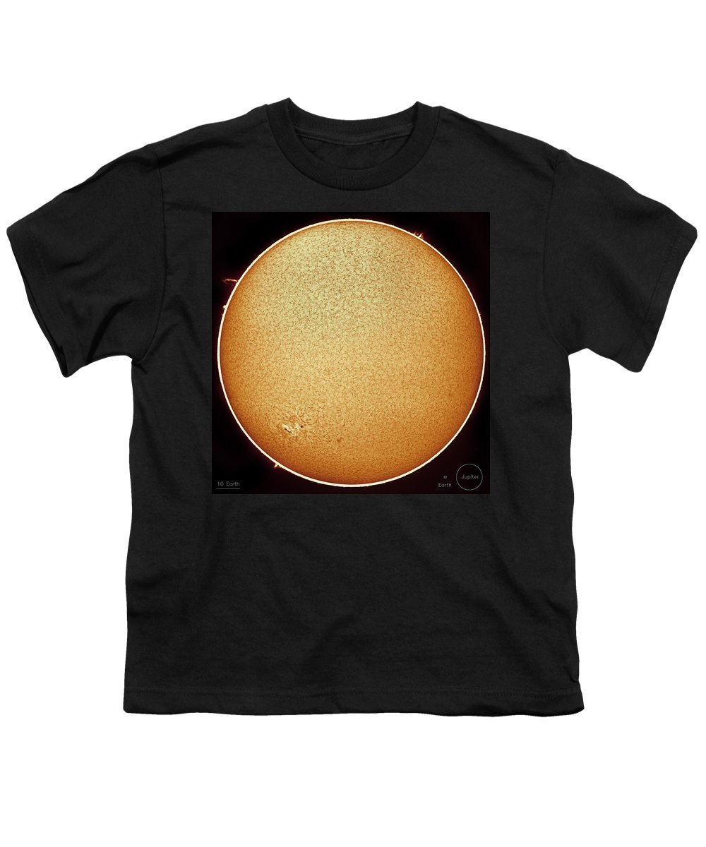Sun Youth T-Shirt featuring the photograph The Fiery Sun by Prabhu Astrophotography