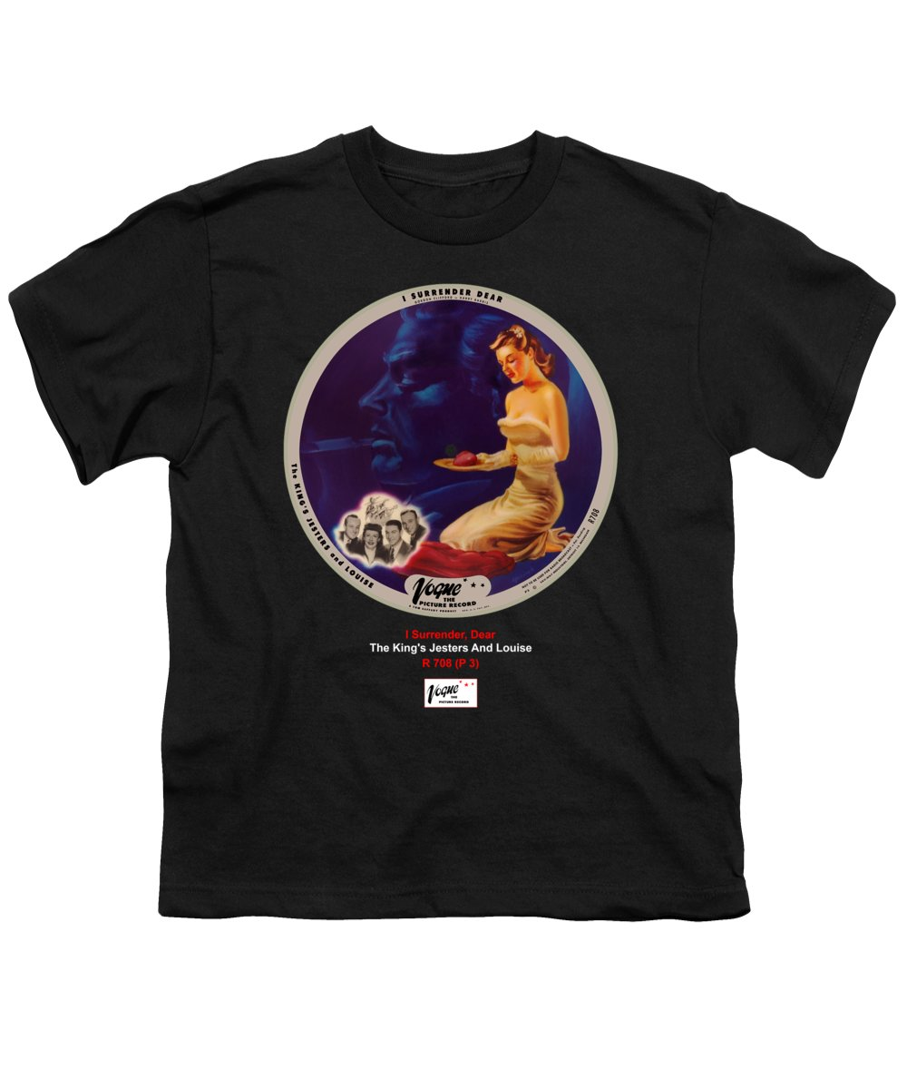 Vogue Picture Record Youth T-Shirt featuring the digital art Vogue Record Art - R 708 - P 3 by John Robert Beck
