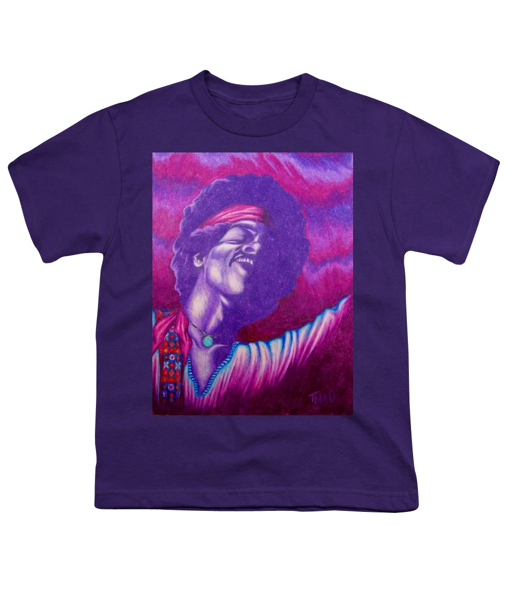 Michael Youth T-Shirt featuring the drawing Haze by Michael TMAD Finney