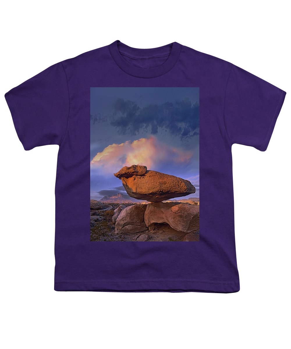 Mp Youth T-Shirt featuring the photograph Balancing Rock Formation, Guadalupe by Tim Fitzharris