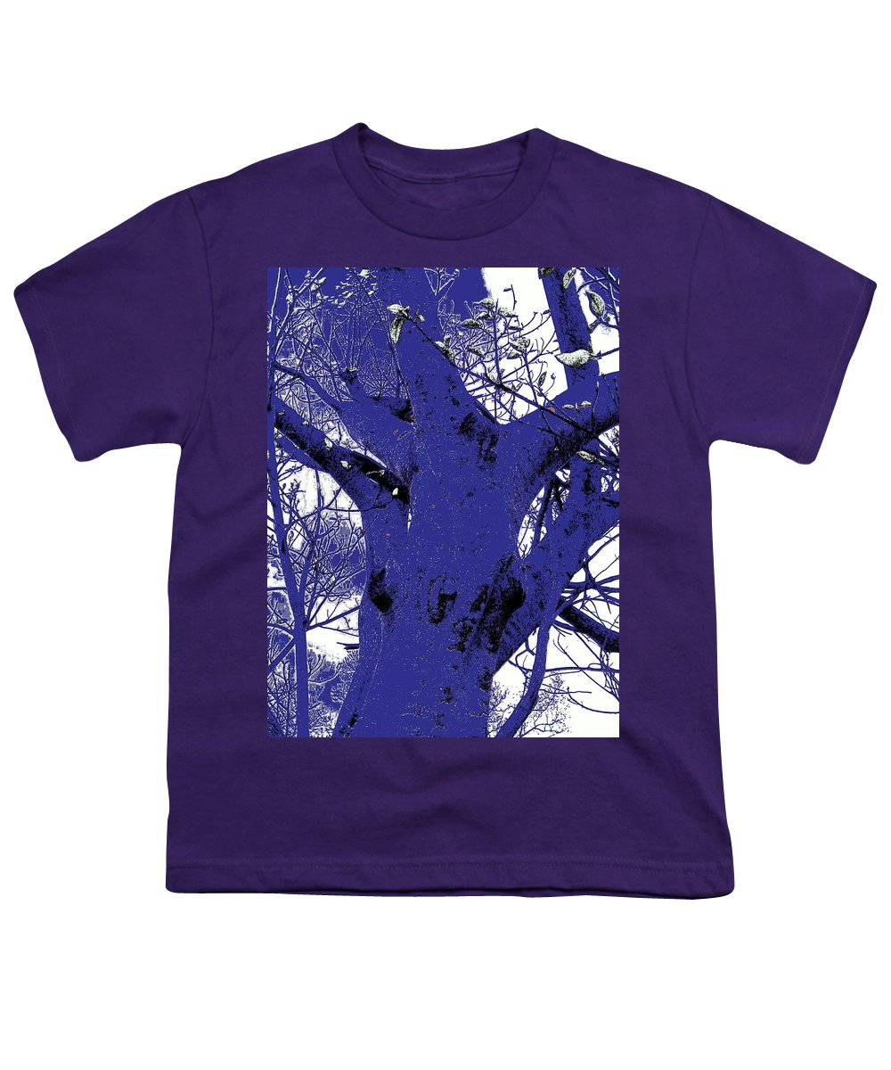 Landscape Youth T-Shirt featuring the photograph Blue Ice by Ed Smith