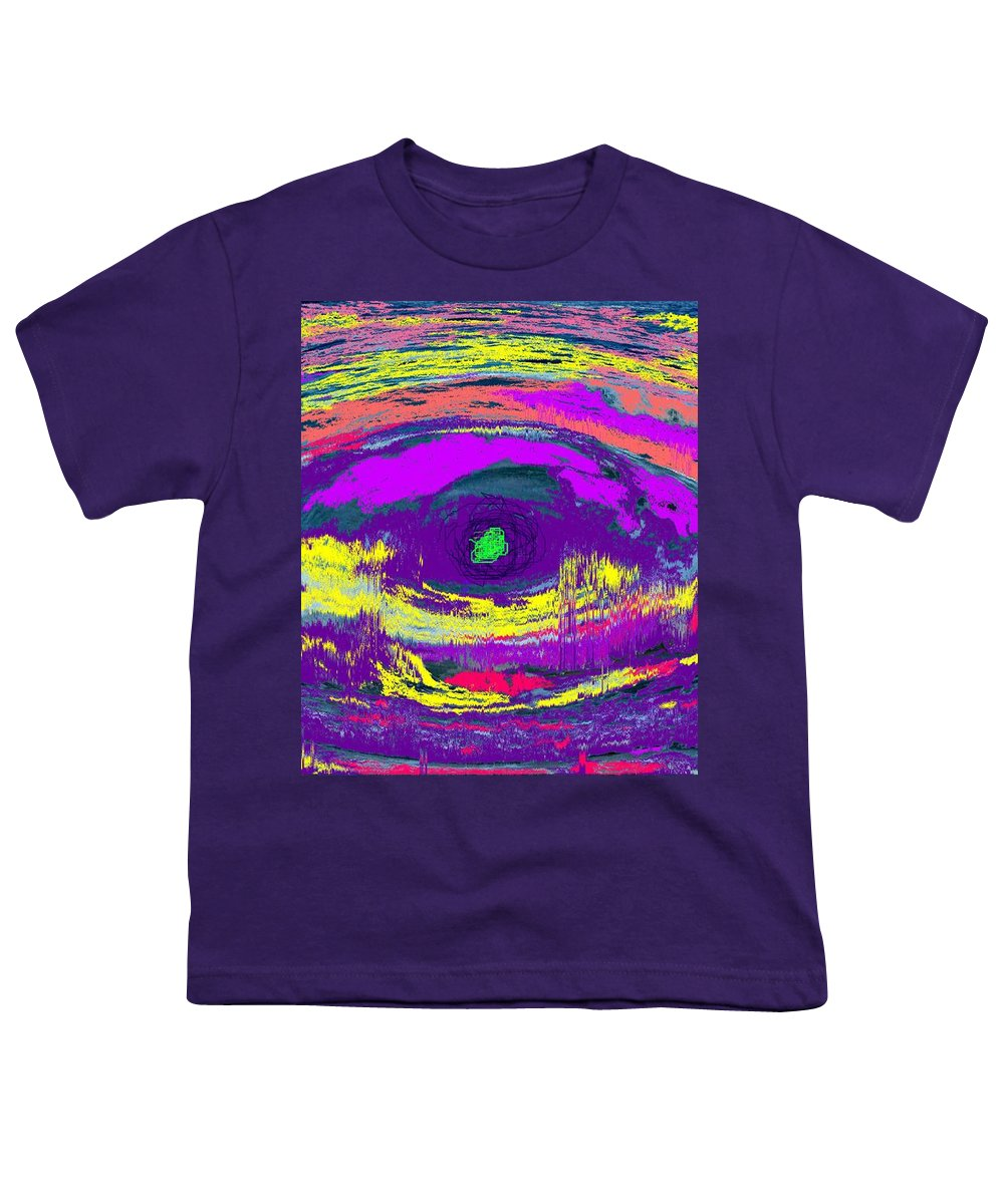 Abstract Youth T-Shirt featuring the digital art Crocodile Eye by Ian MacDonald
