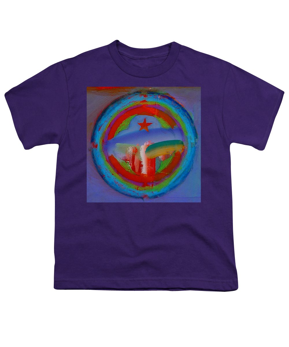 Logo Youth T-Shirt featuring the painting Deep Blue Decal by Charles Stuart