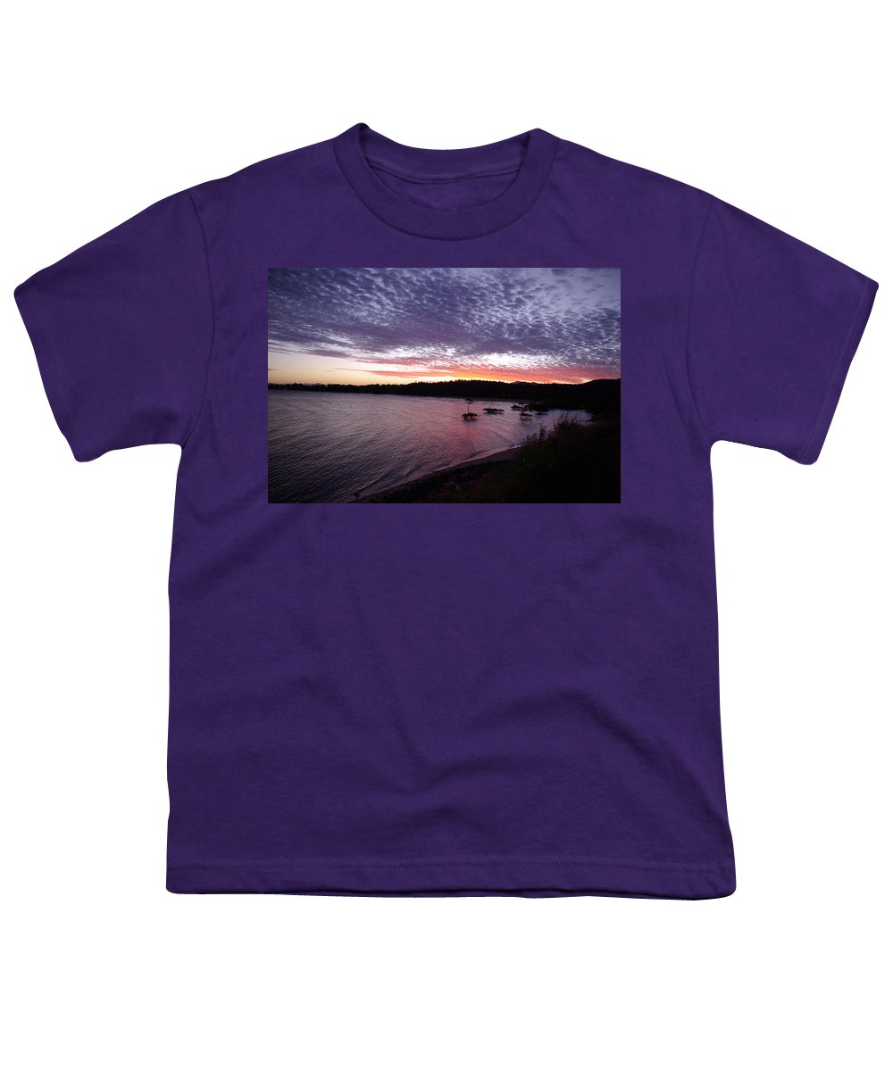 Landscape Youth T-Shirt featuring the photograph Four Elements Sunset Sequence 6 Coconuts Qld by Kerryn Madsen-Pietsch