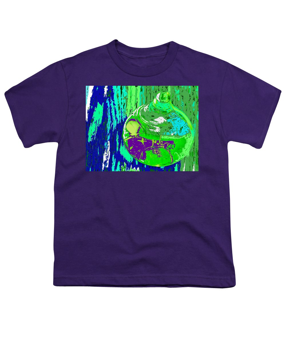 Abstract Youth T-Shirt featuring the photograph Green Whirl by Ian MacDonald