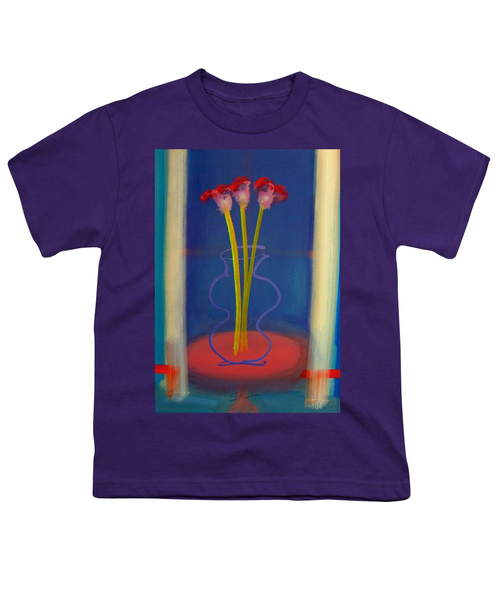 Guitar Youth T-Shirt featuring the painting Guitar Vase by Charles Stuart