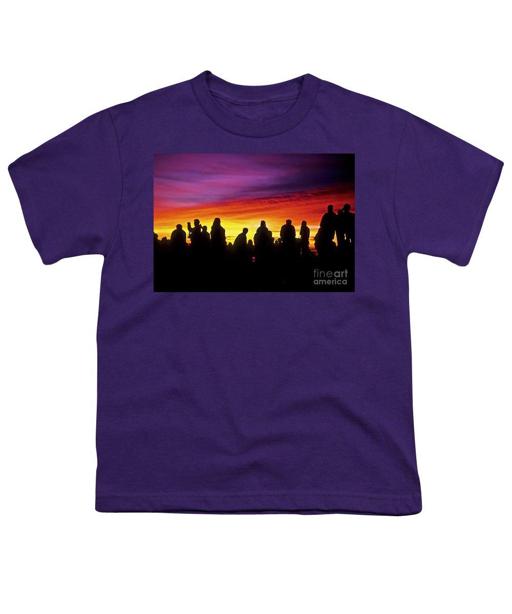 Haleakala Sunrise Youth T-Shirt featuring the photograph Haleakala Color Show by Jim Cazel