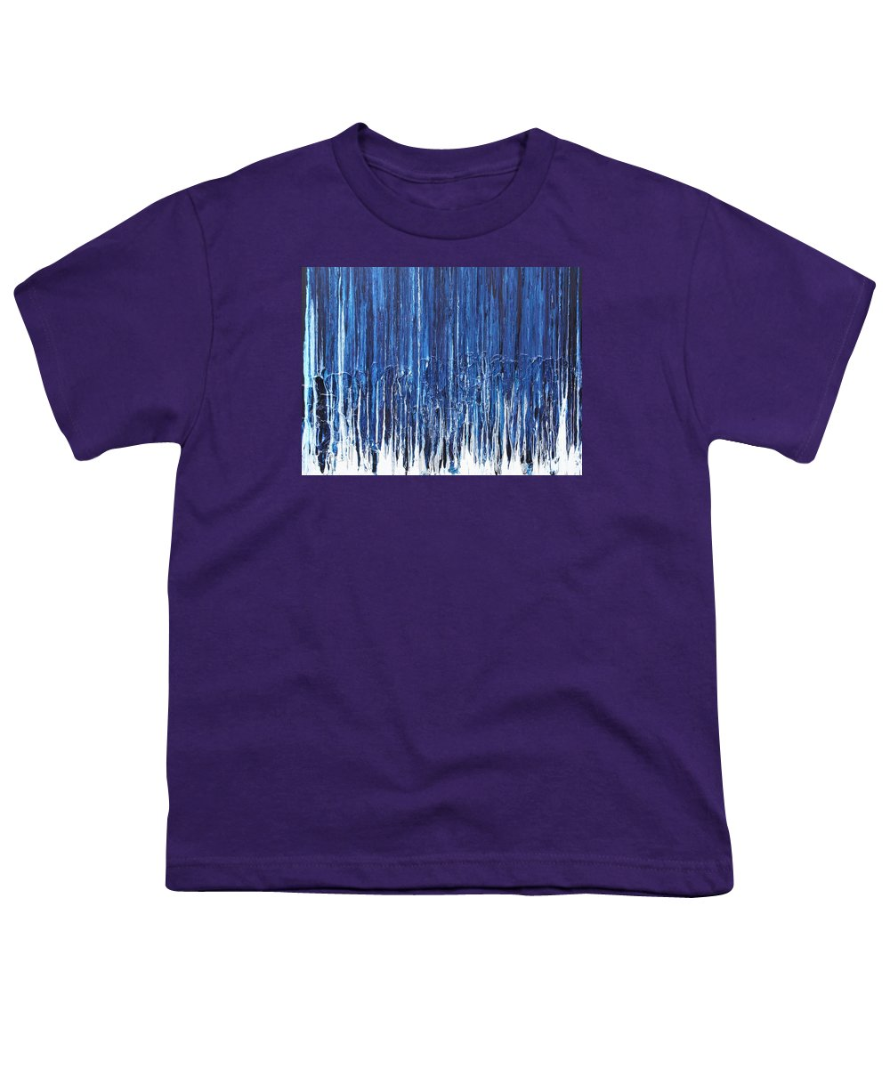 Fusionart Youth T-Shirt featuring the painting Indigo Soul by Ralph White