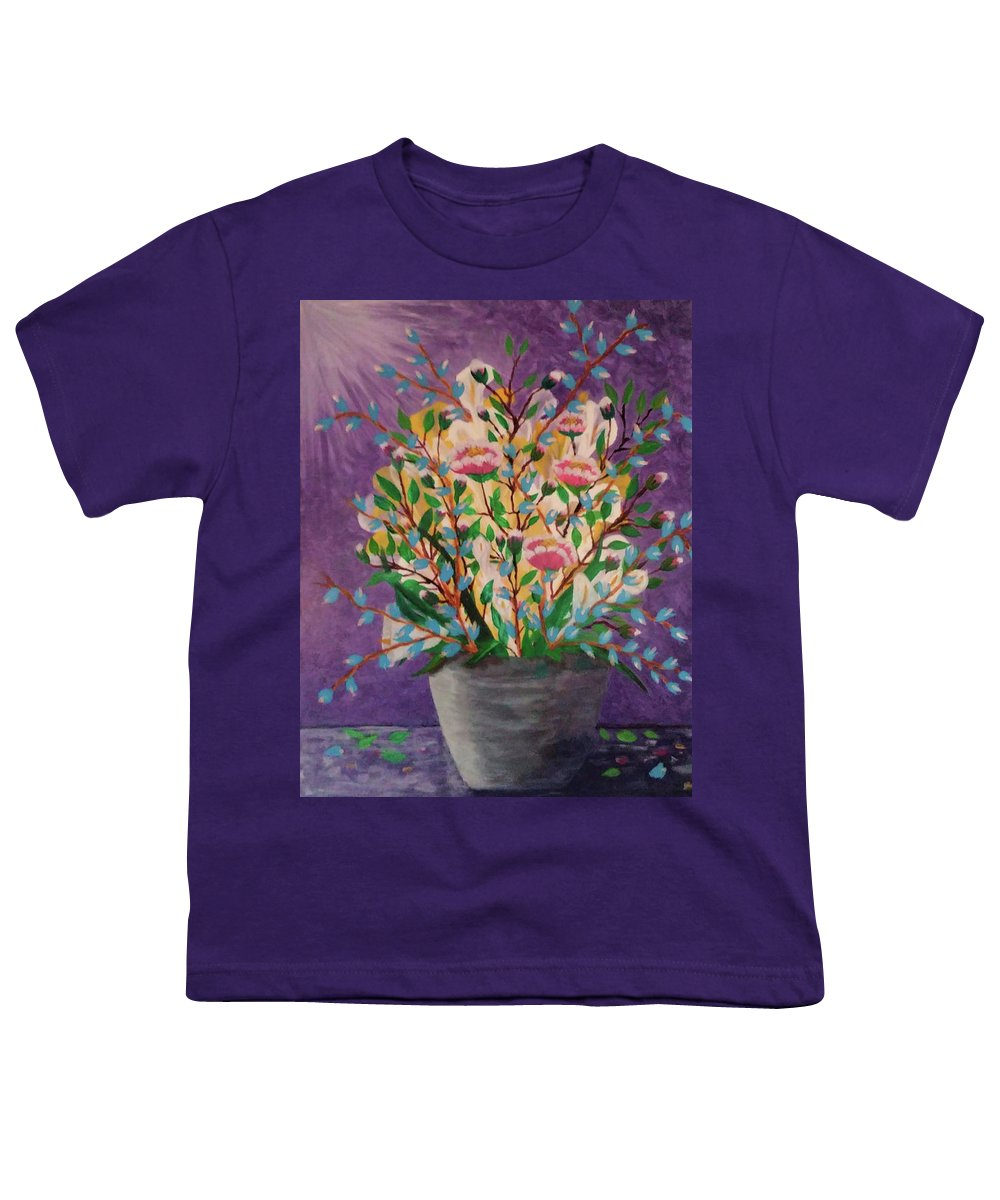 Still Life Youth T-Shirt featuring the painting Les Fleurs by Diana Robbins