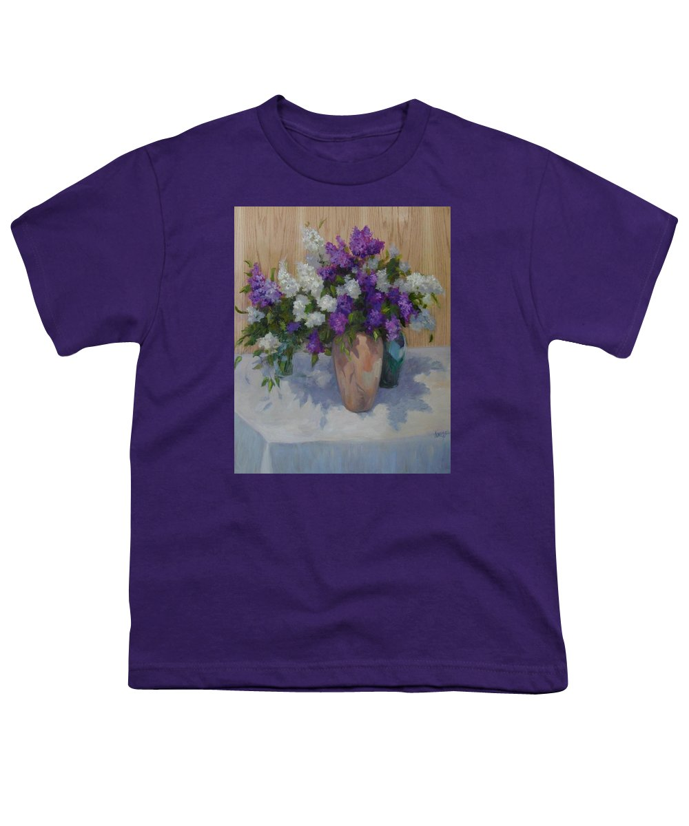 Lilacs Youth T-Shirt featuring the painting Lilacs by Patricia Kness
