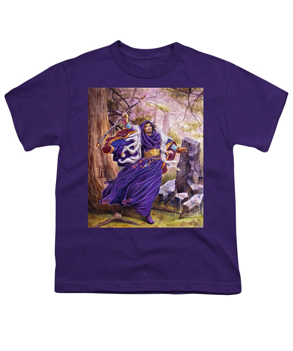Artwork Youth T-Shirt featuring the painting Merlin by Melissa A Benson