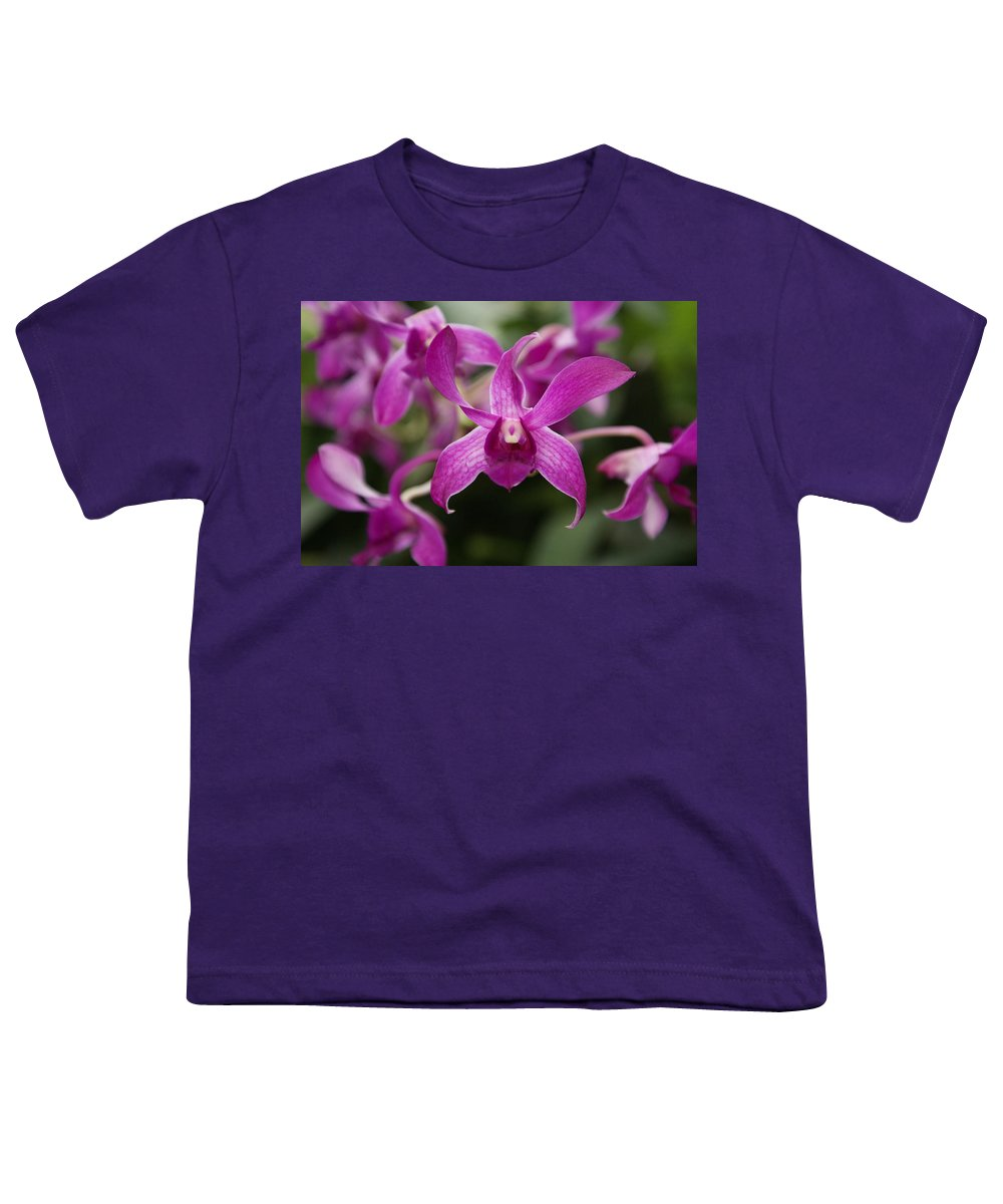 Orchid Youth T-Shirt featuring the photograph Orchid by Heather Coen
