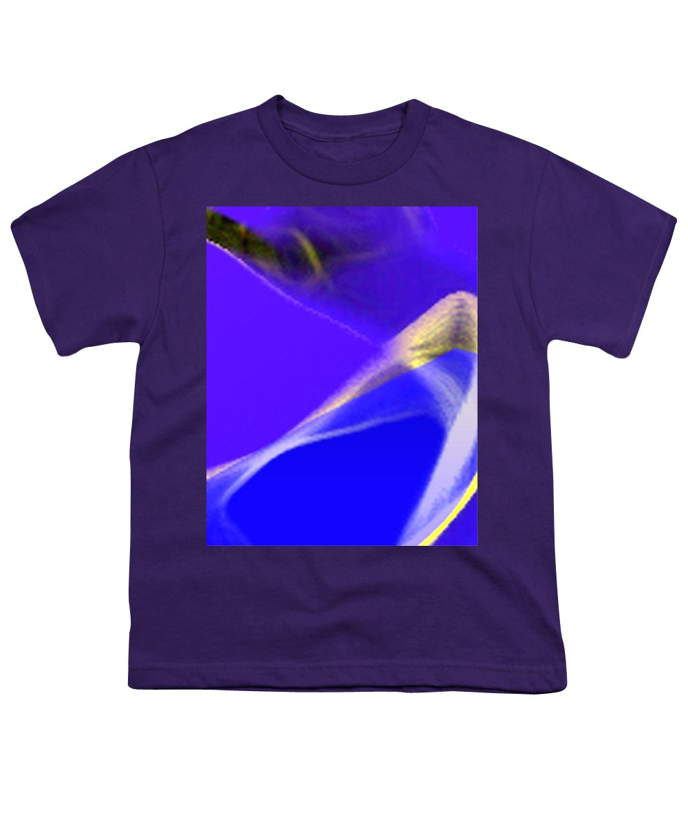 Abstract Youth T-Shirt featuring the digital art panel three from Movement in Blue by Steve Karol
