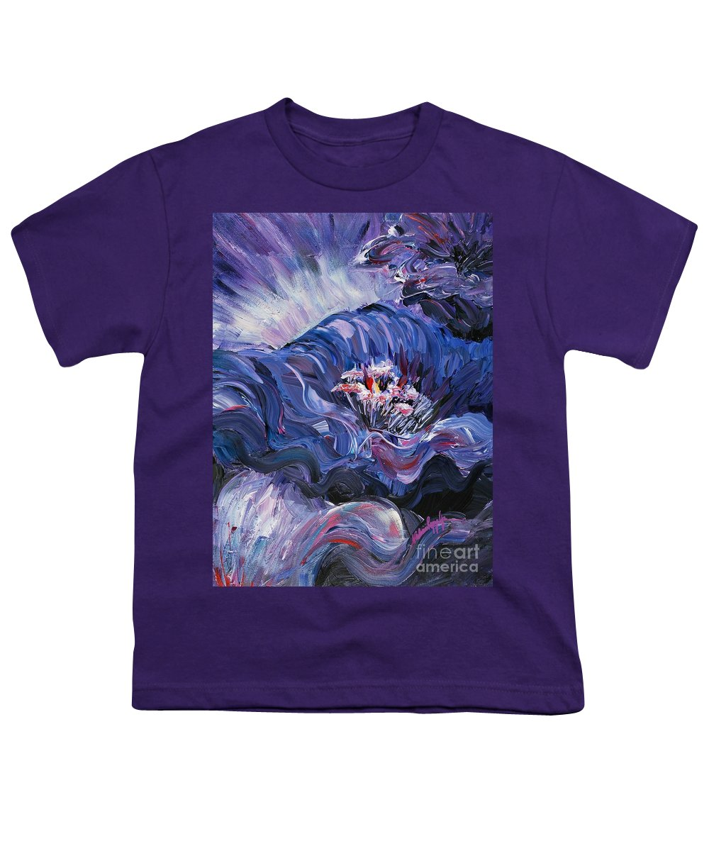 Blue Youth T-Shirt featuring the painting Passion In Blue by Nadine Rippelmeyer