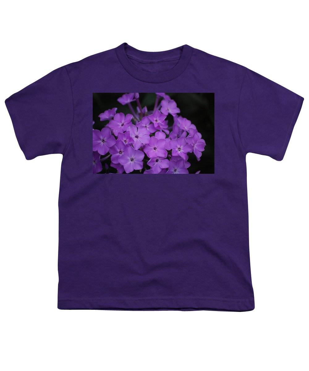 Digital Photo Youth T-Shirt featuring the photograph Purple Blossoms by David Lane