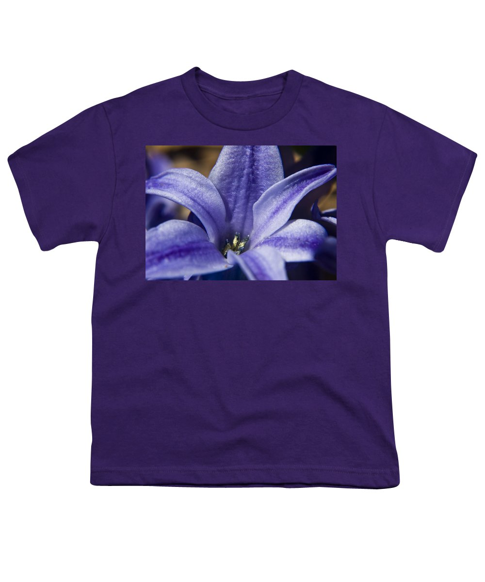 Hyacinth Youth T-Shirt featuring the photograph Purple Hyacinth by Teresa Mucha