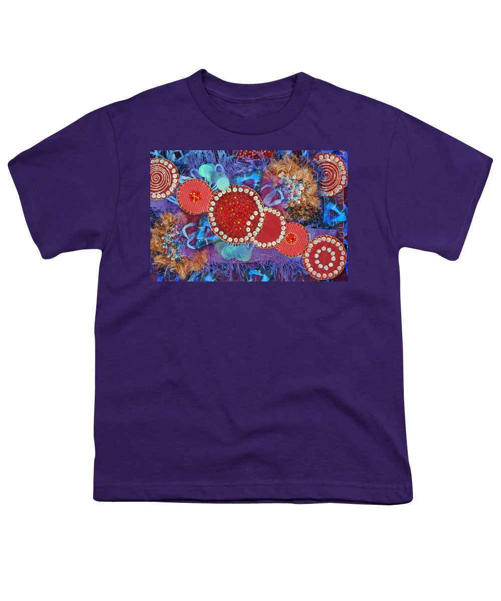 Youth T-Shirt featuring the mixed media Ruby Slippers 1 by Judy Henninger