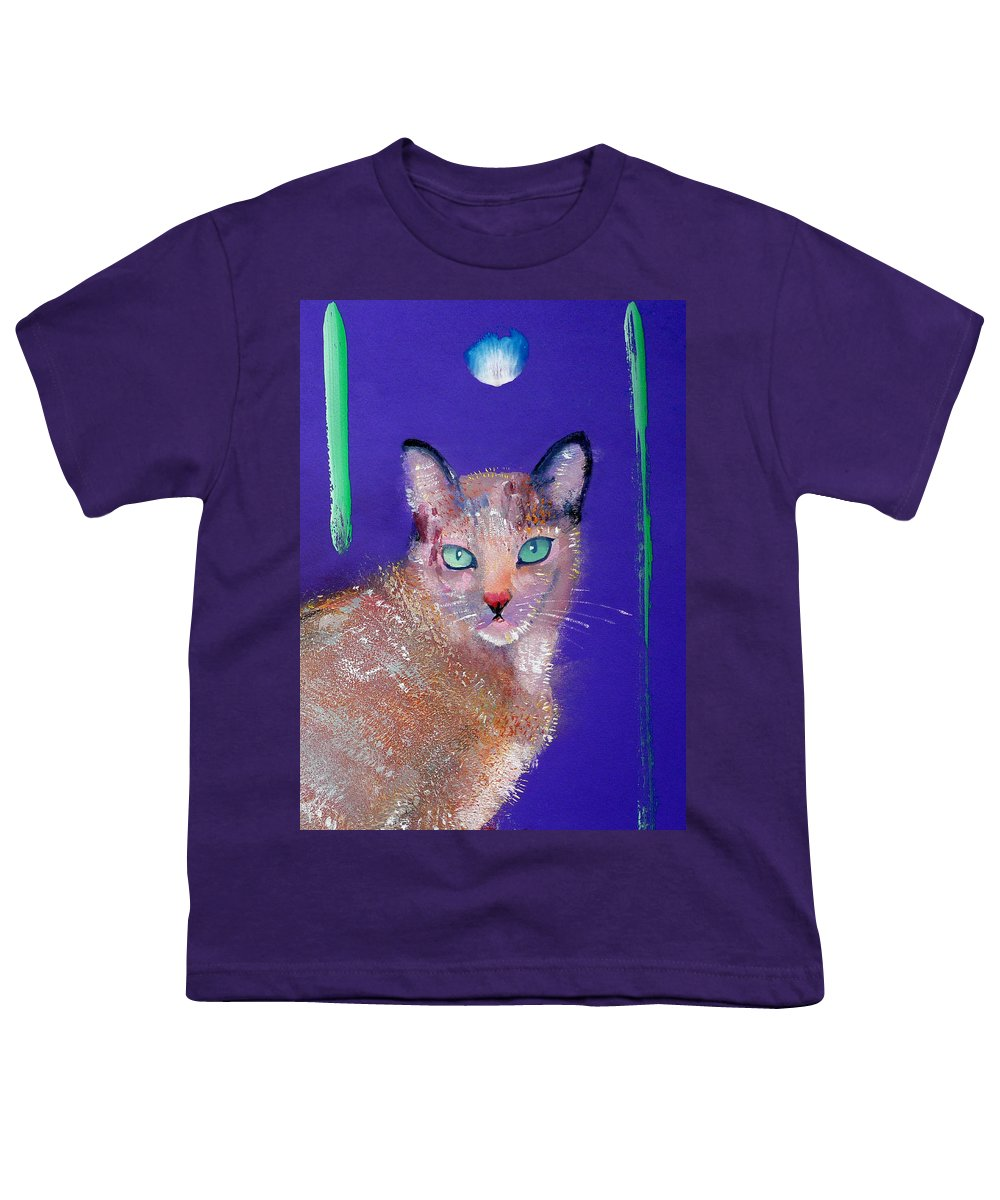 Cat Youth T-Shirt featuring the painting Siamese Cat by Charles Stuart