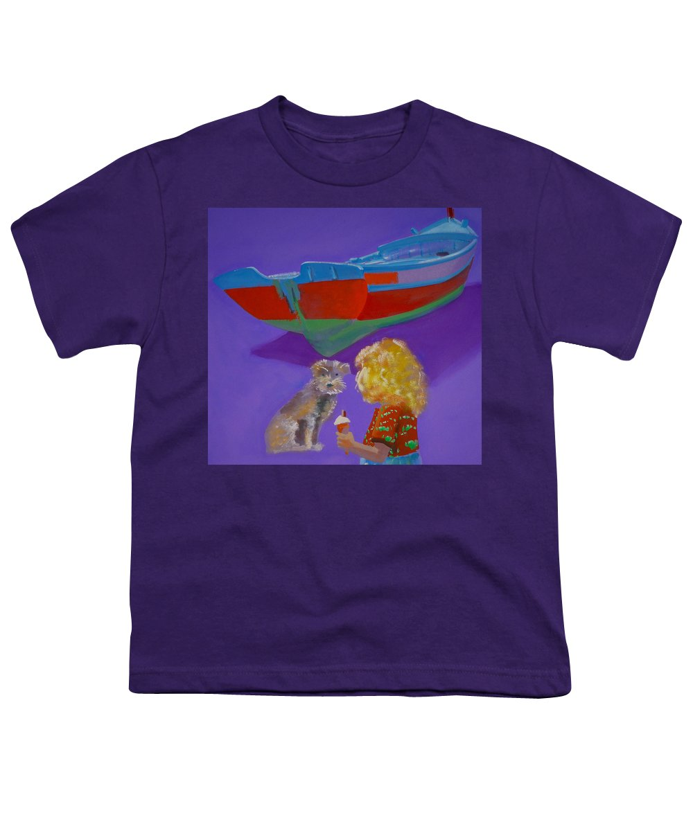 Blonde Youth T-Shirt featuring the painting Toto by Charles Stuart