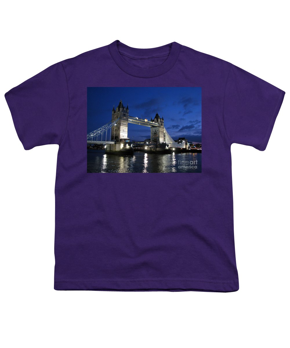 London Youth T-Shirt featuring the photograph Tower Bridge by Amanda Barcon