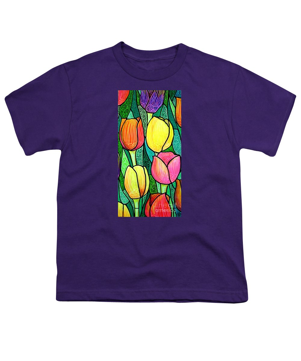 Tulips Youth T-Shirt featuring the painting Tulip Expo by Jim Harris