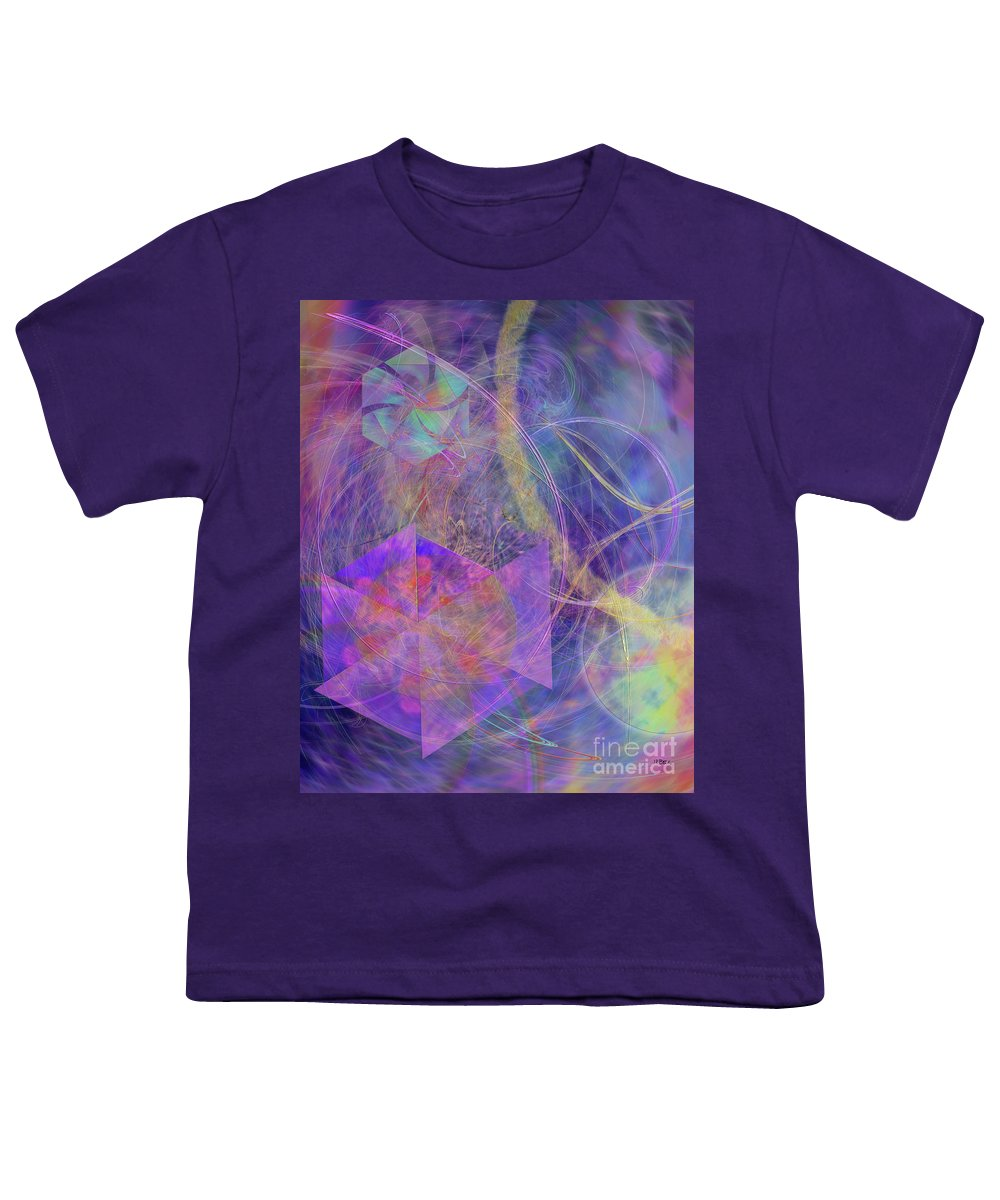 Turbo Blue Youth T-Shirt featuring the digital art Turbo Blue by John Beck