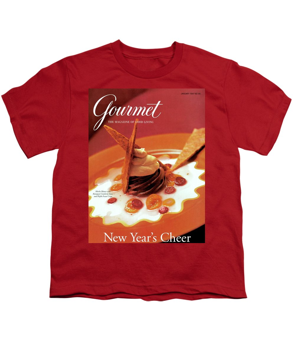 Food Youth T-Shirt featuring the photograph A Gourmet Cover Of Moch Mousse by Romulo Yanes