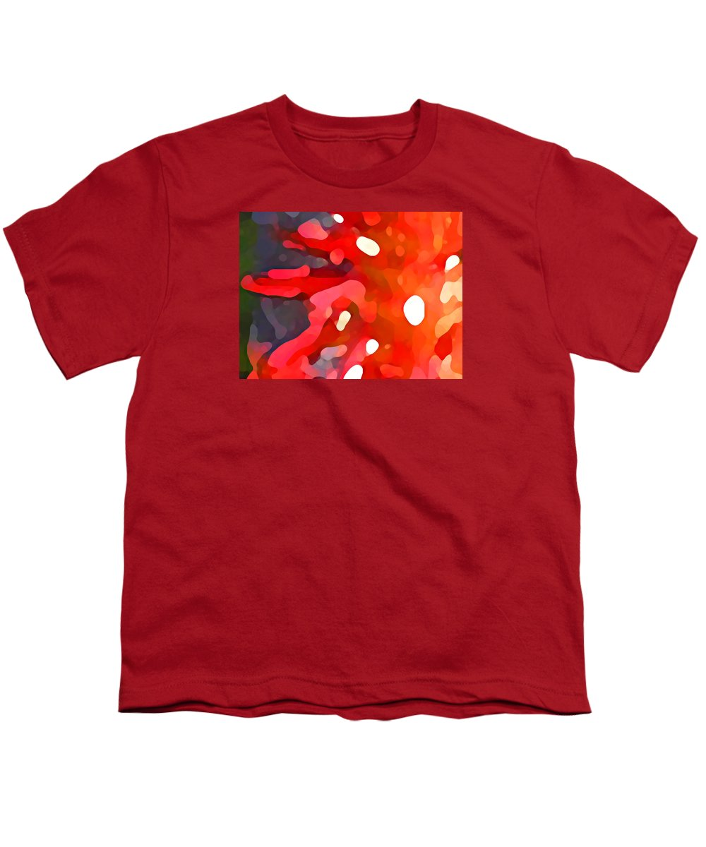 Bold Youth T-Shirt featuring the painting Abstract Red Sun by Amy Vangsgard