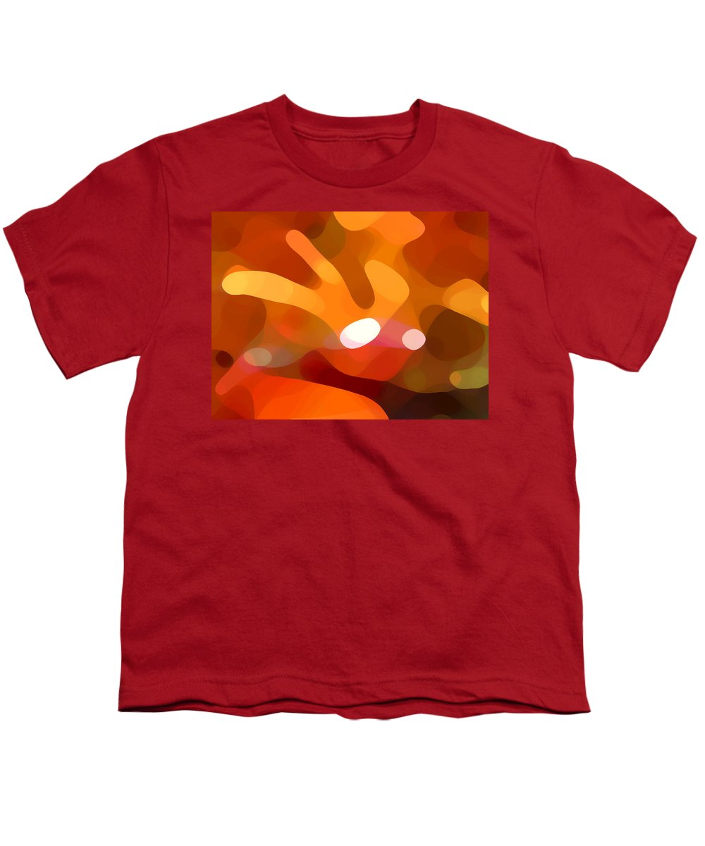 Abstract Youth T-Shirt featuring the painting Fall Day by Amy Vangsgard