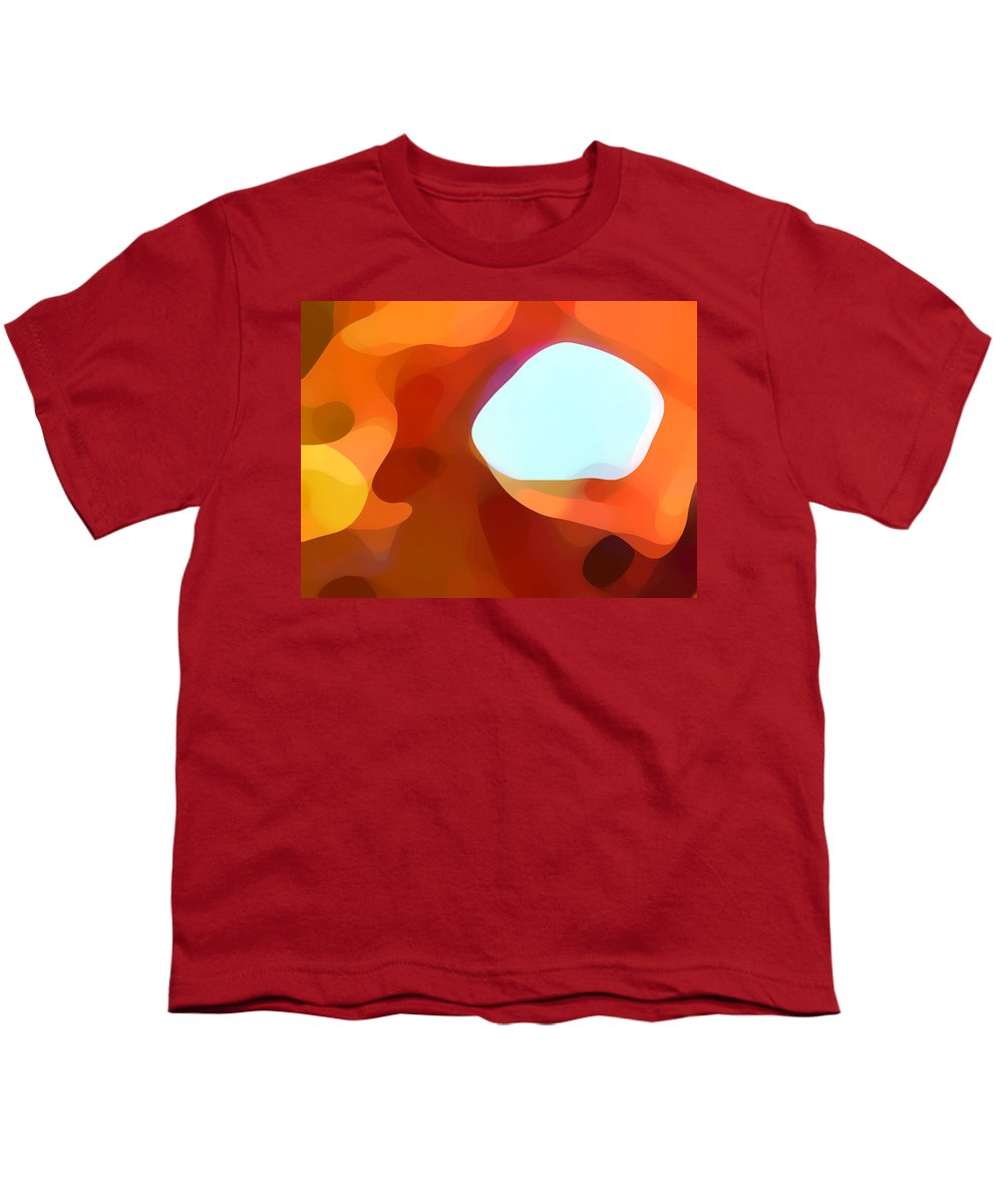 Abstract Youth T-Shirt featuring the painting Fall Passage by Amy Vangsgard