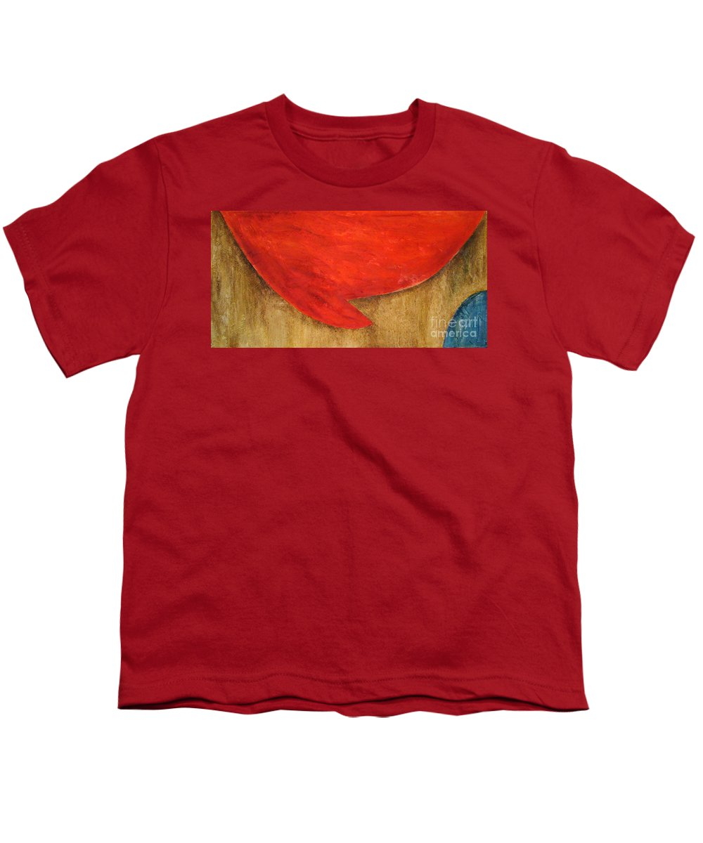 Modern Art Youth T-Shirt featuring the painting Hot Spot by Silvana Abel