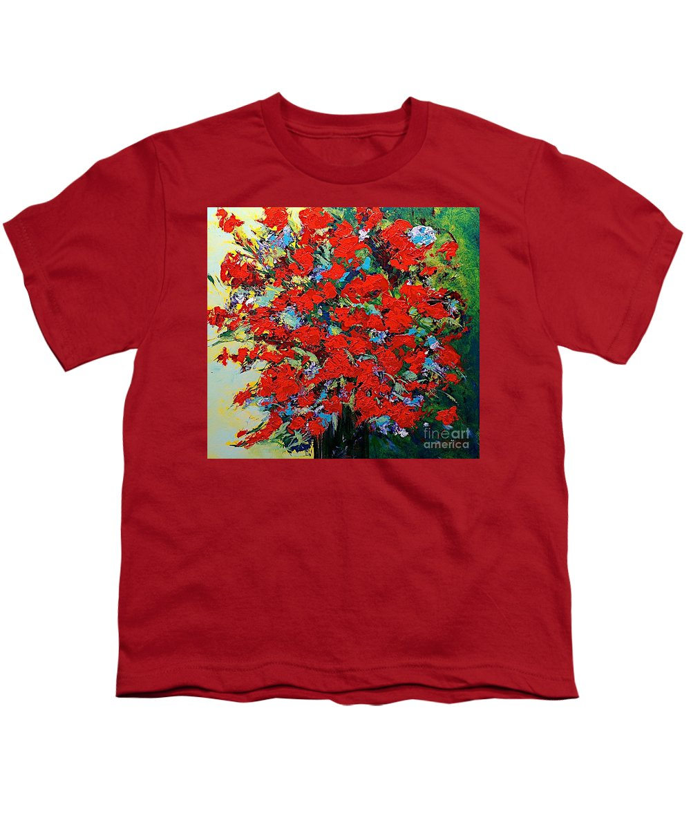 Landscape Youth T-Shirt featuring the painting One Of A Kind by Allan P Friedlander