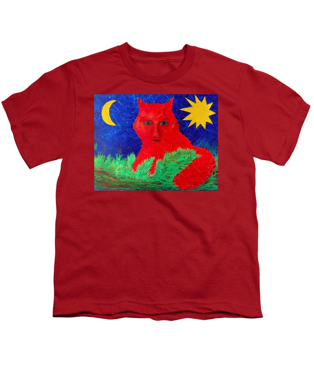 Fantasy Youth T-Shirt featuring the painting Red by Sergey Bezhinets