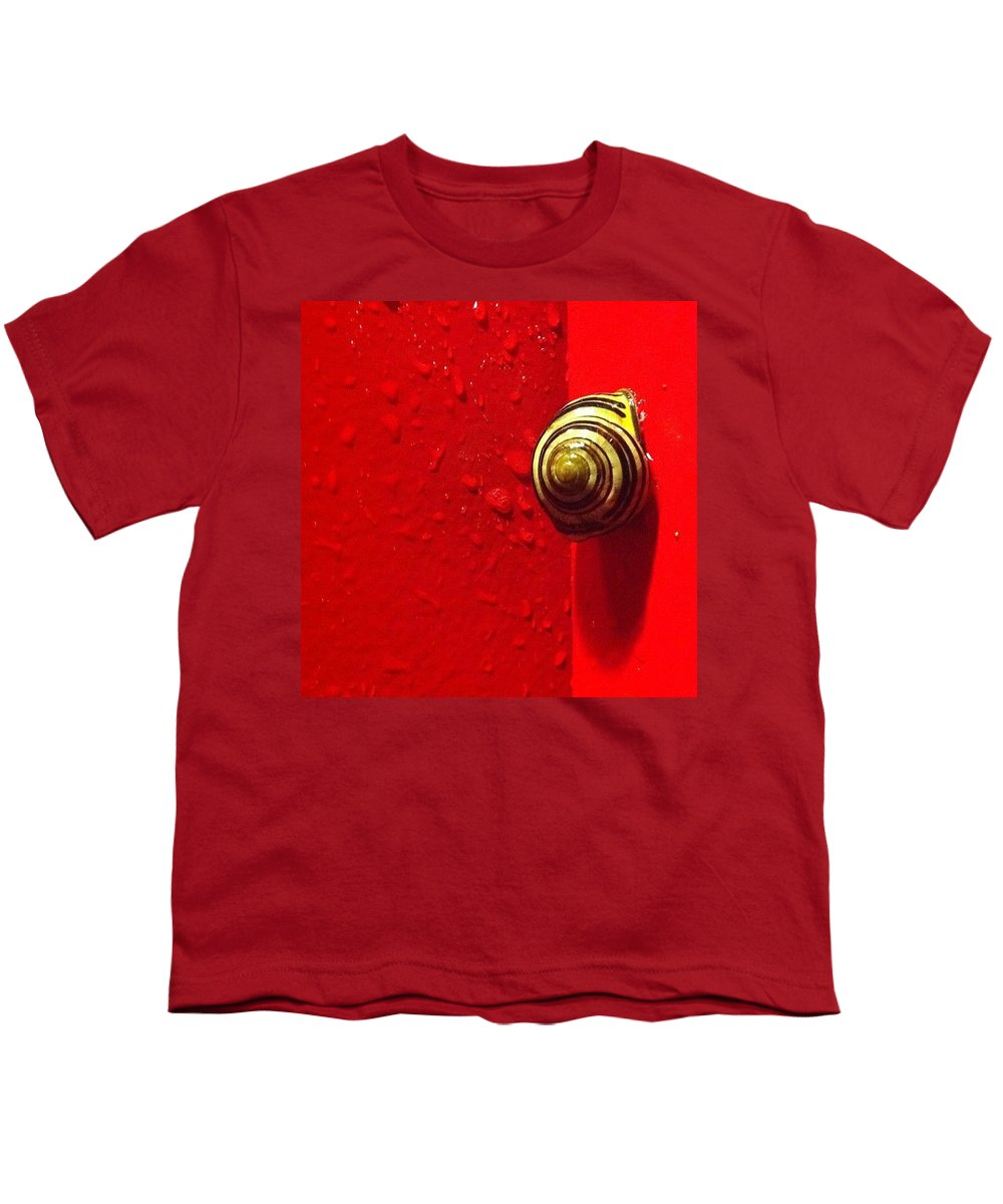 Nofilter Youth T-Shirt featuring the photograph Never A Shortage Of #snails Back Here by Katie Cupcakes