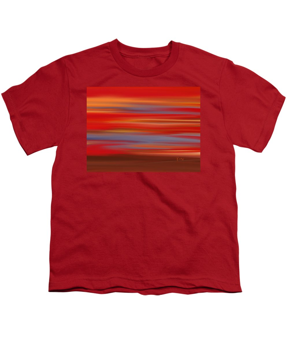 Abstract Youth T-Shirt featuring the digital art Evening In Ottawa Valley by Rabi Khan