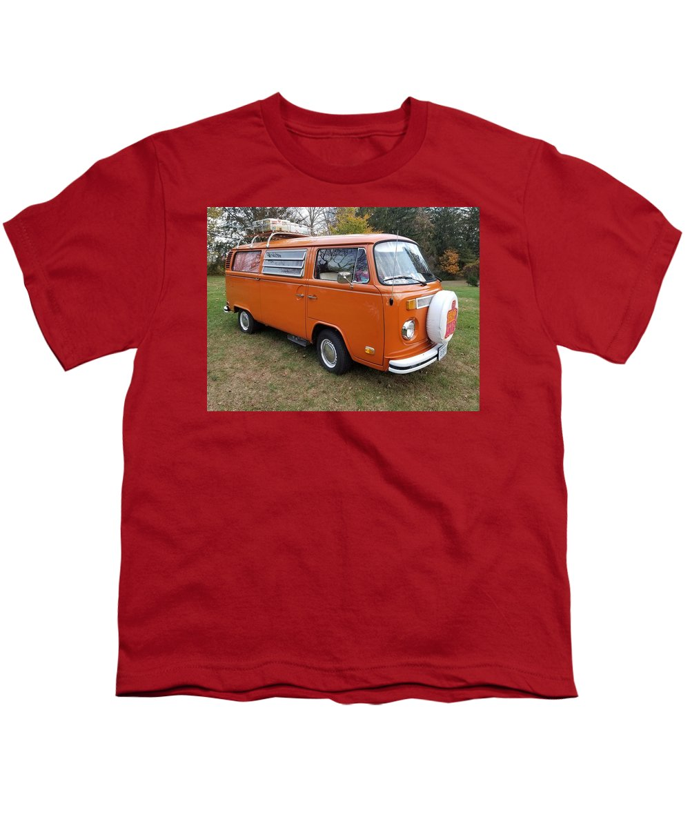 Volkswagen Bus T2 Westfalia Youth T-Shirt featuring the photograph Volkswagen Bus T2 Westfalia by Jackie Russo