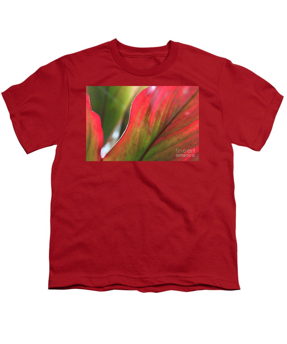 Pink Youth T-Shirt featuring the photograph Abstract Leaves by Nadine Rippelmeyer