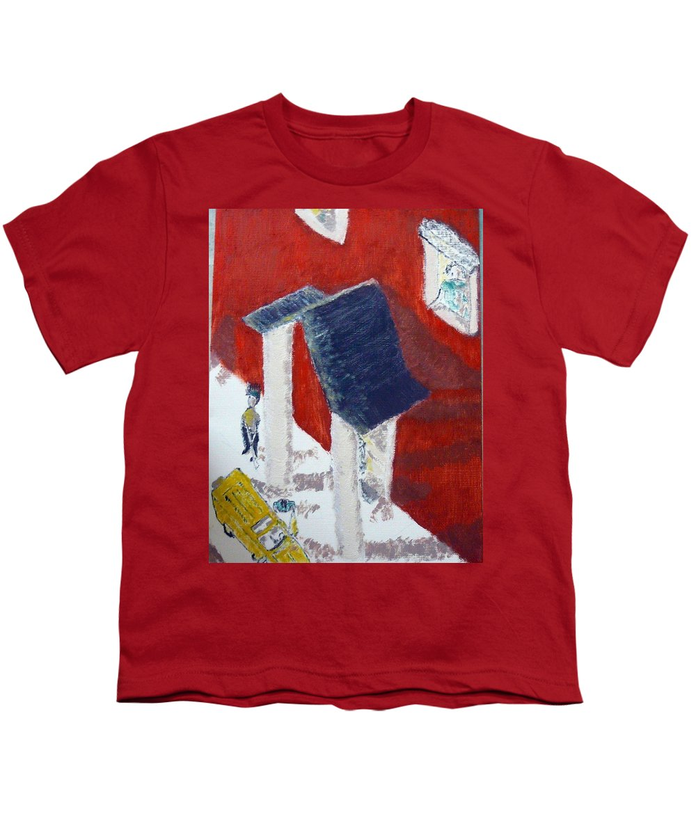 Social Realiism Youth T-Shirt featuring the painting Accessories by R B