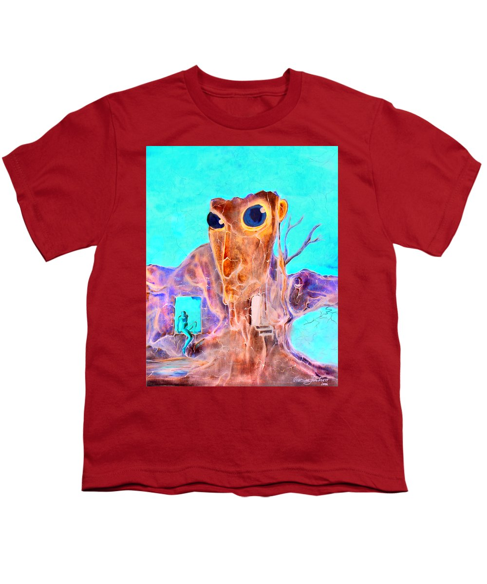 Surreal Color Eyes Structure Youth T-Shirt featuring the painting Another Few Seconds In My Head by Veronica Jackson
