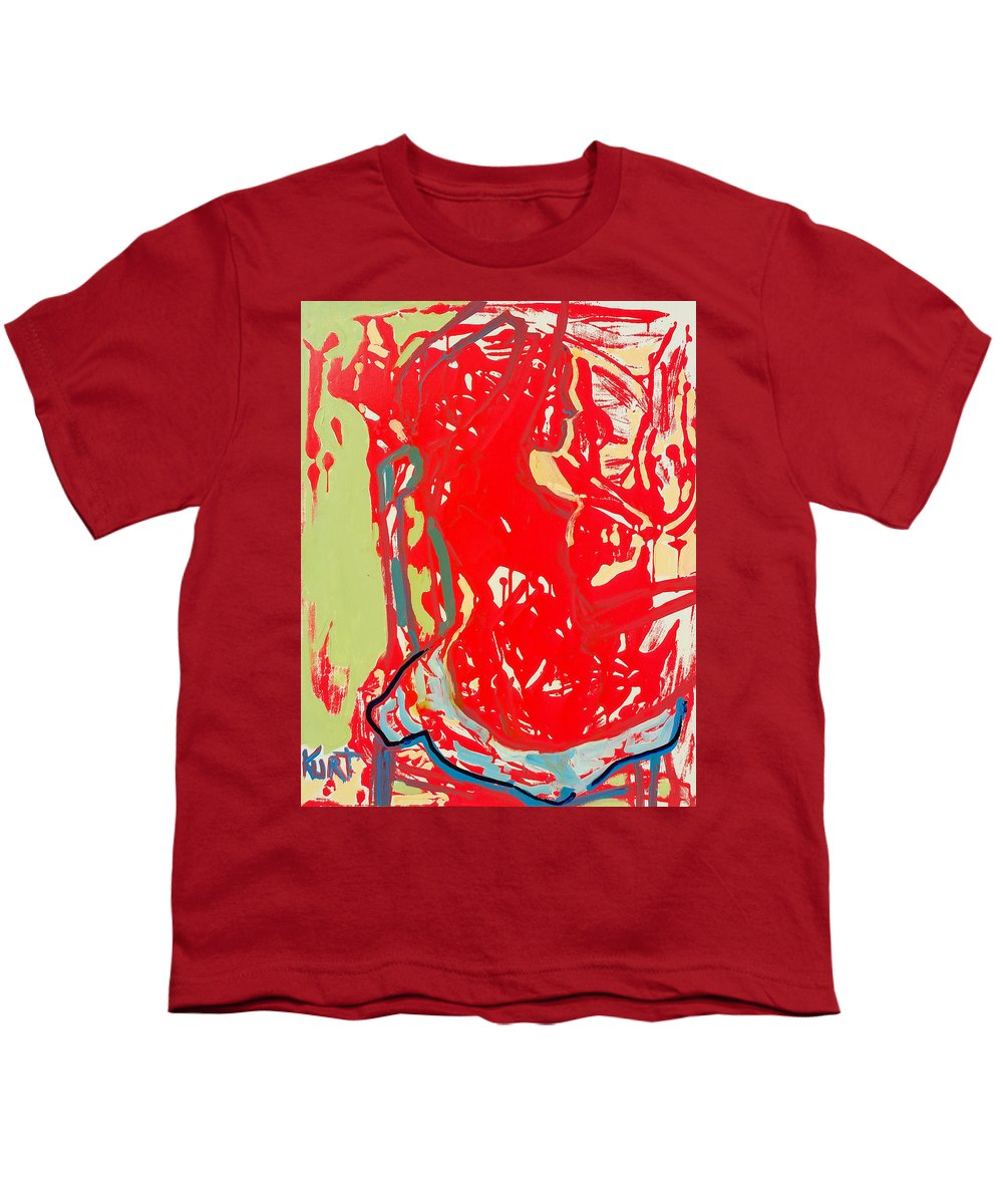 Nude Youth T-Shirt featuring the painting Blue Chair by Kurt Hausmann