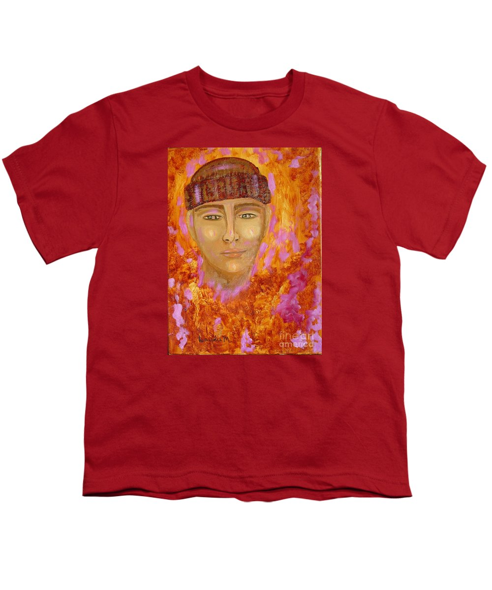 Portrait Youth T-Shirt featuring the painting Choices by Laurie Morgan