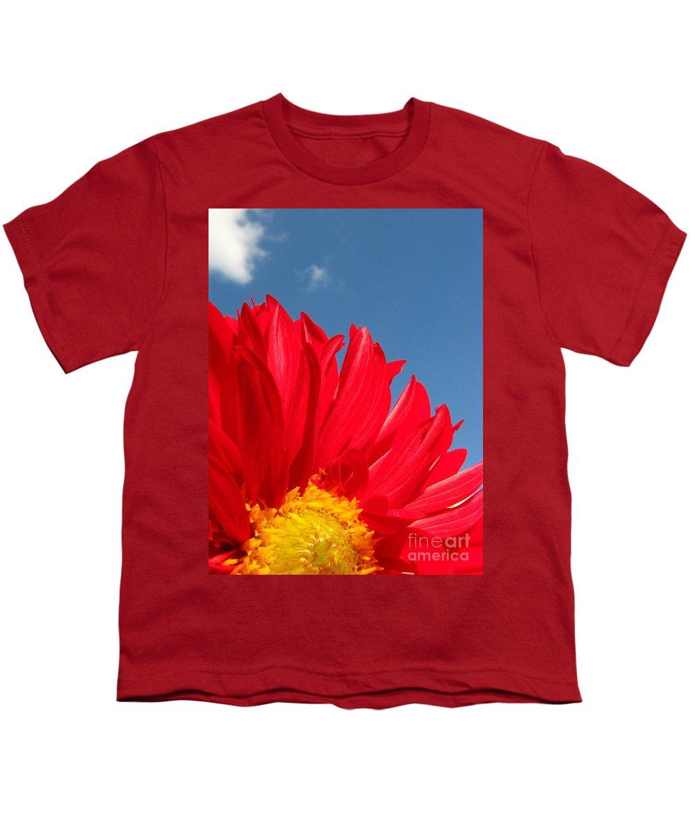 Dahlia Youth T-Shirt featuring the photograph Dahlia by Amanda Barcon