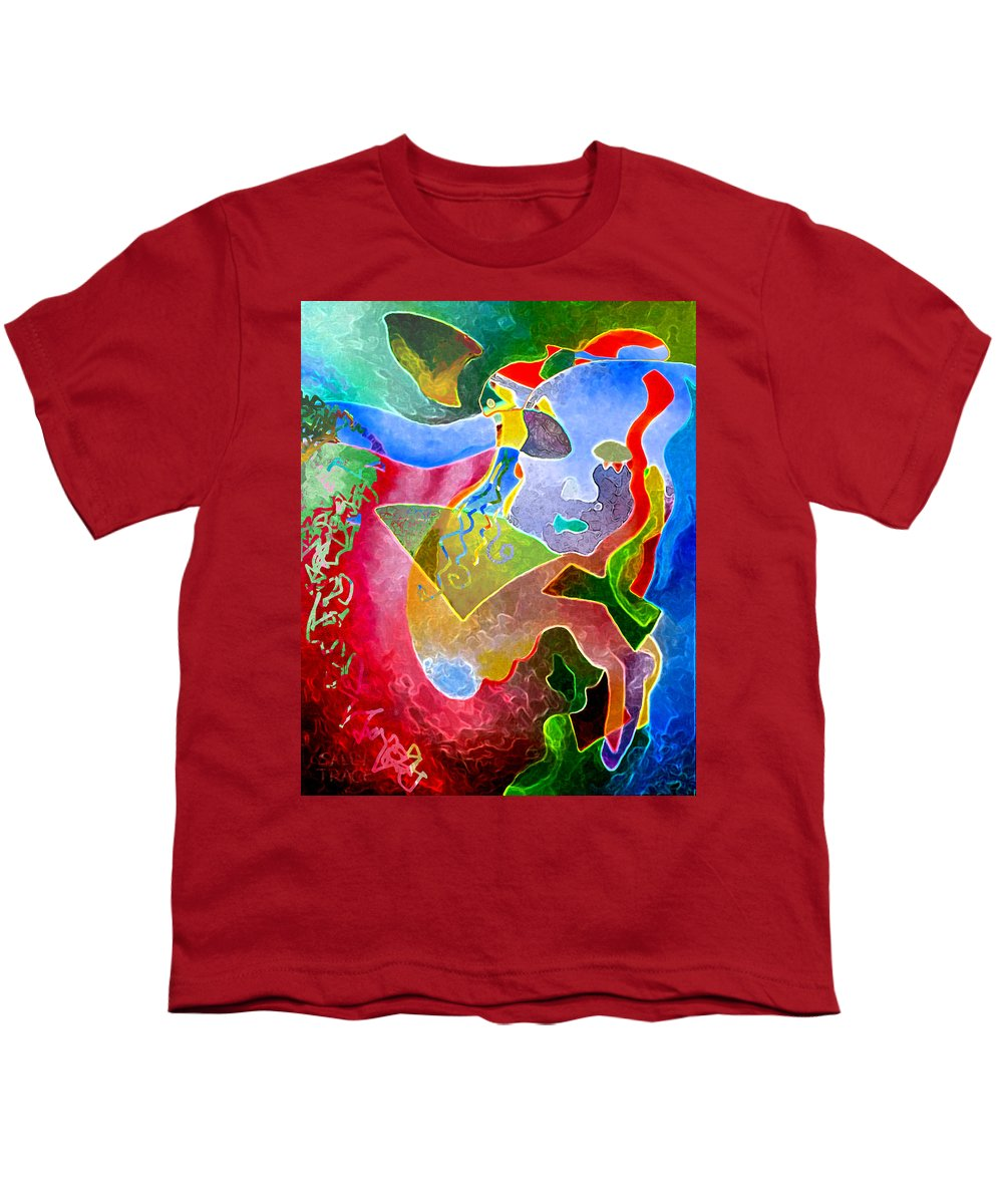Coffee Youth T-Shirt featuring the painting Daydreams by Sally Trace