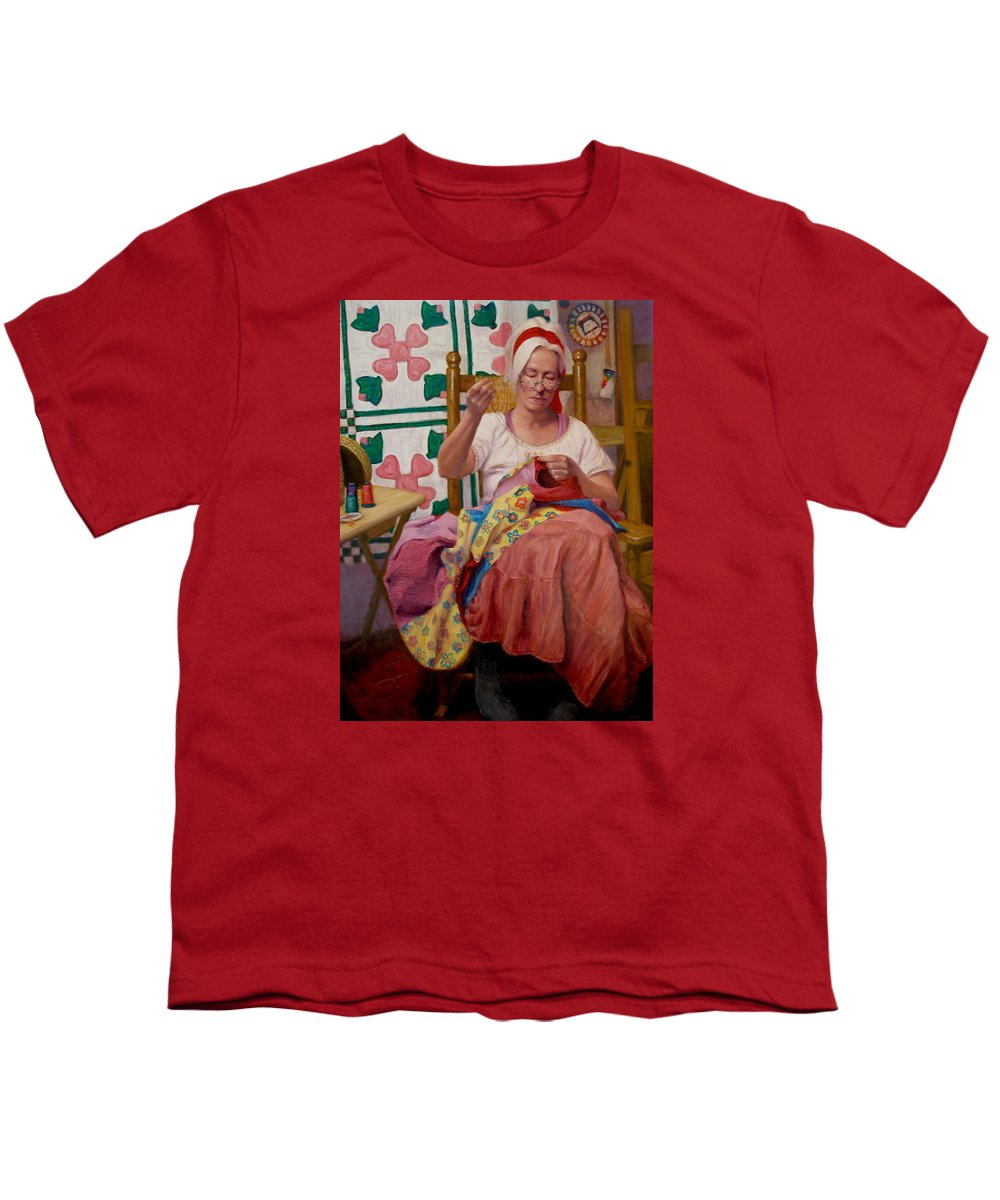 Realism Youth T-Shirt featuring the painting Desert Rose by Donelli DiMaria