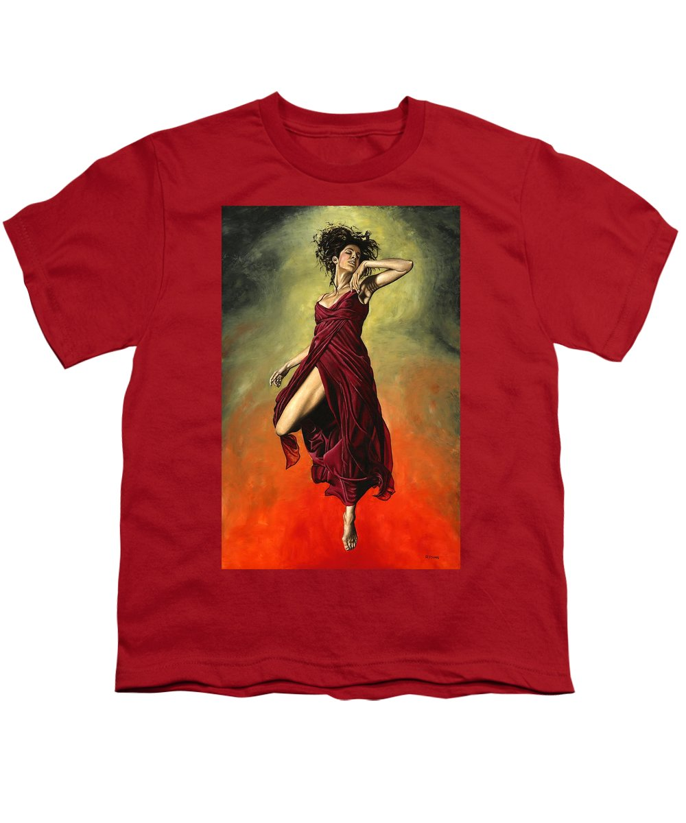Dance Youth T-Shirt featuring the painting Destiny's Dance by Richard Young