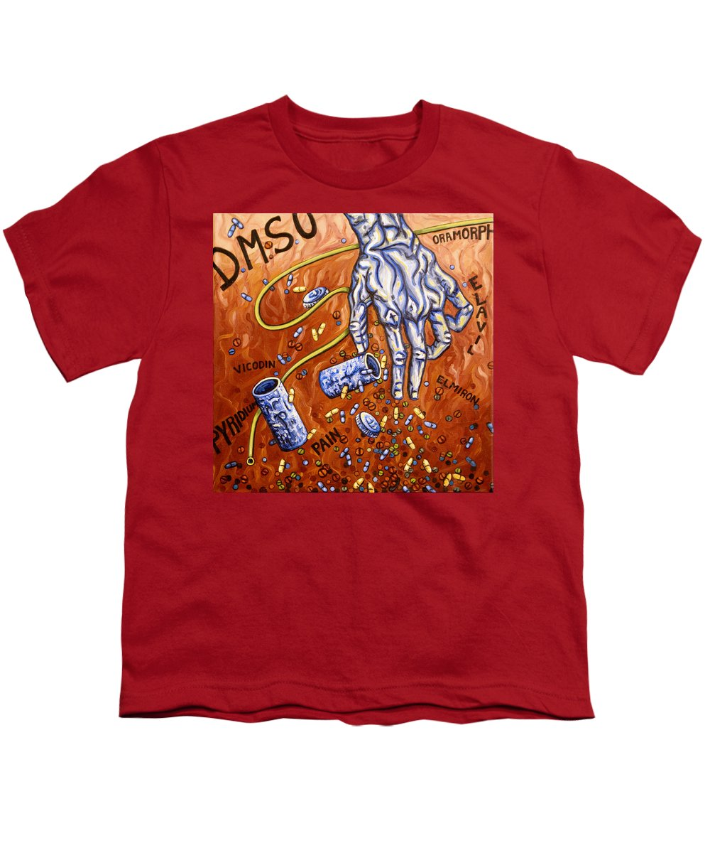 Pain Youth T-Shirt featuring the painting Dmso by Judy Henninger