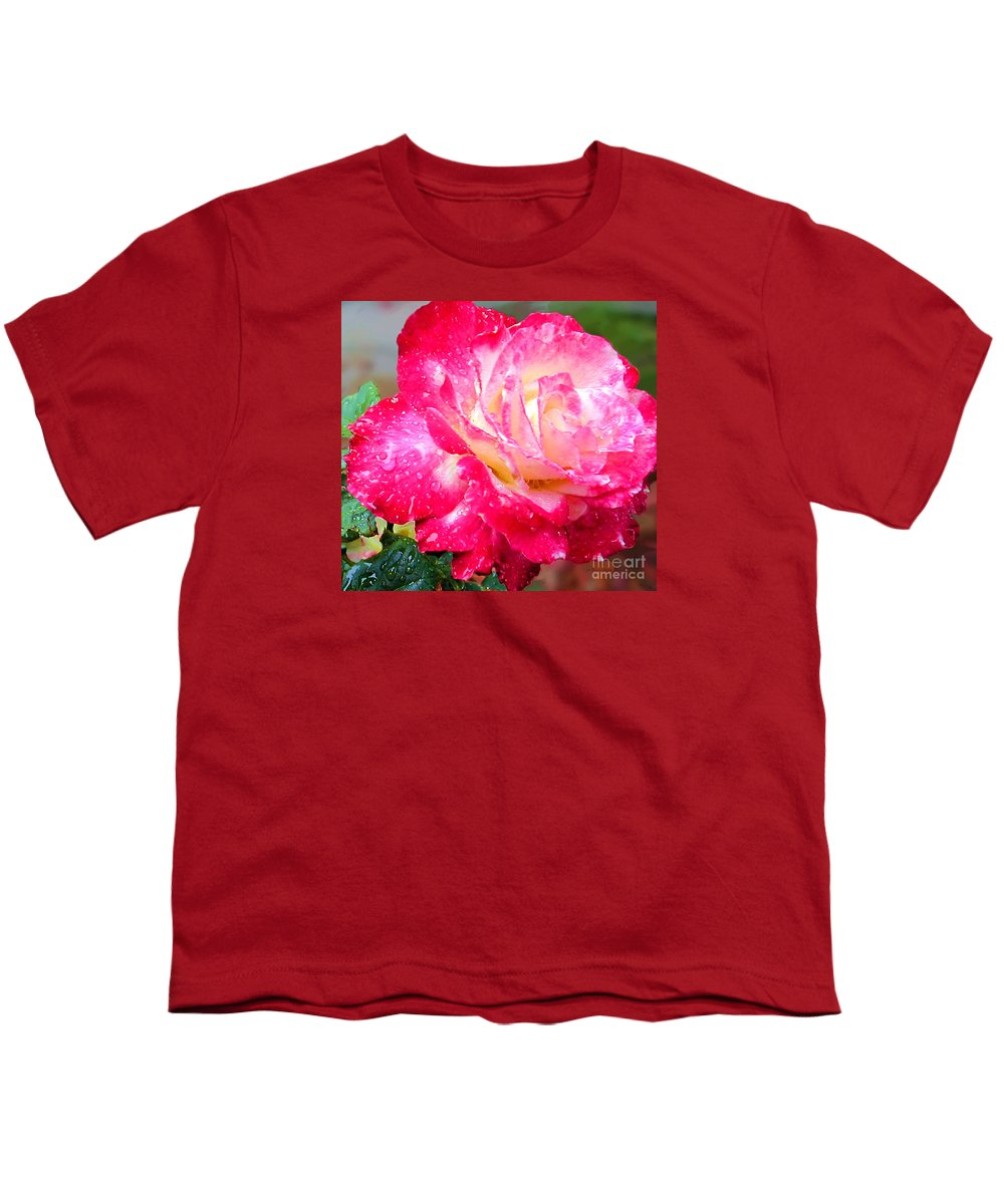 Fine Art Photography Youth T-Shirt featuring the photograph Double Delight by Patricia Griffin Brett