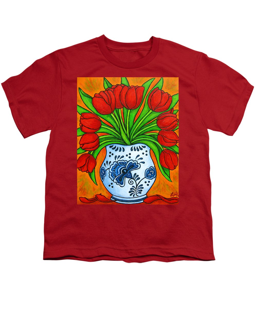 White Youth T-Shirt featuring the painting Dutch Delight by Lisa Lorenz